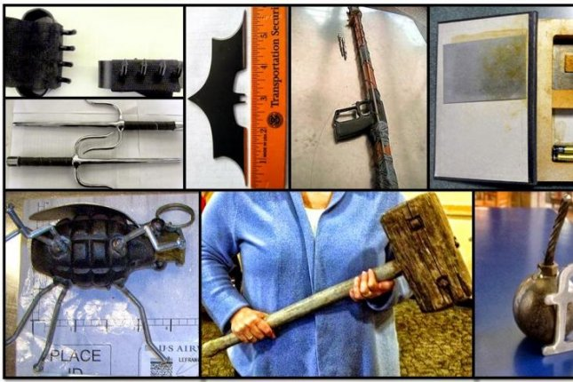 The Department of Homeland Security seized 2,212 firearms along with a variety of other weapons from airport travelers in 2014, marking a 22 percent increase from the previous year. Photo courtesy Transportation Security Administration