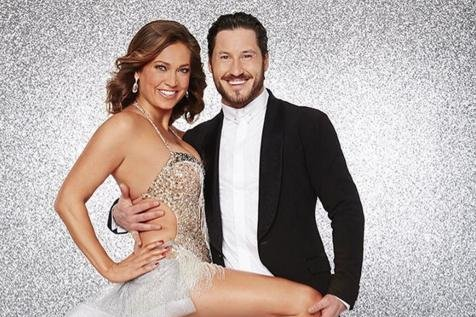 Ginger Zee (L) and Val Chmerkovskiy in their ABC promo for Dancing with the Stars Season 22. Photo by Ginger Zee/Instagram