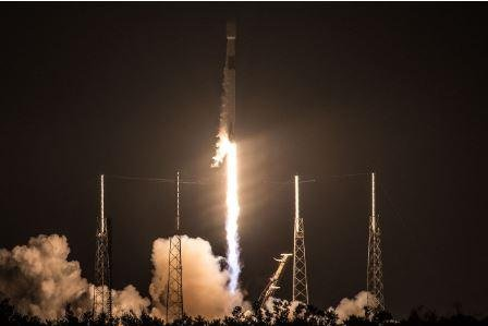 SpaceX successfully launched the Telstar 19 VANTAGE satellite from Cape Canaveral Air Force Station in Florida early Sunday. Photo courtesy of SpaceX