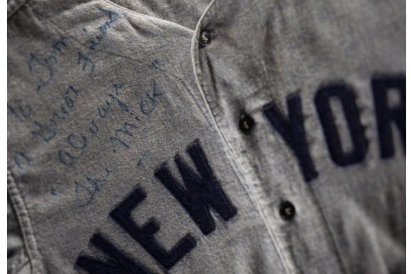 wholesale dealer bf08b e8c92 Mickey Mantle jersey [est. $700,000+], other legendary items ...