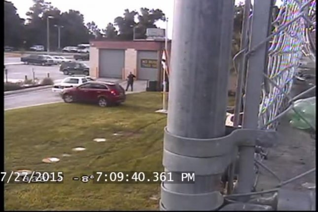 Michael Lee Roberts, 31, takes a joyride on the lawn at the Hernando County Detention Center in Florida. HernandoCounty Sheriff/YouTube video screenshot