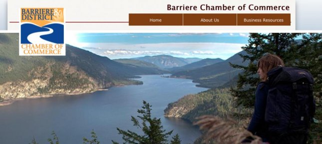 A pornographic website attempted to extort the Barriere Chamber of Commerce for its domain name after the chamber failed to set up automatic renewal on its GoDaddy account. Screenshot/ http://www.barrierechamberofcommerce.com