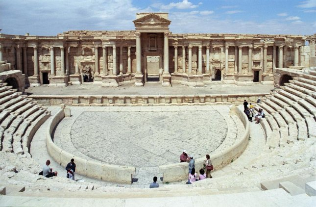 Russian conductor Valery Gergiev conducted a concert at the Roman Theatre in Palmyra, which was built in the second century A.D. and is still largely intact after the occupation of the ancient city by the Islamic State. Photo by Jerzy Strzelecki/Wikipedia