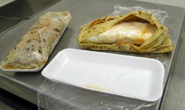 These two tortillas were found to contain more than a pound of methamphetamine. Photo courtesy of U.S. Customs and Border Protection