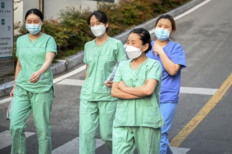 Nurses have been vital to South Korea's response to the coronavirus pandemic. Photo by Thomas Maresca/UPI