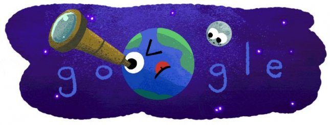 Google is celebrating NASA's recent discovery of seven earth-sized planets with a new Doodle. Photo courtesy of Google