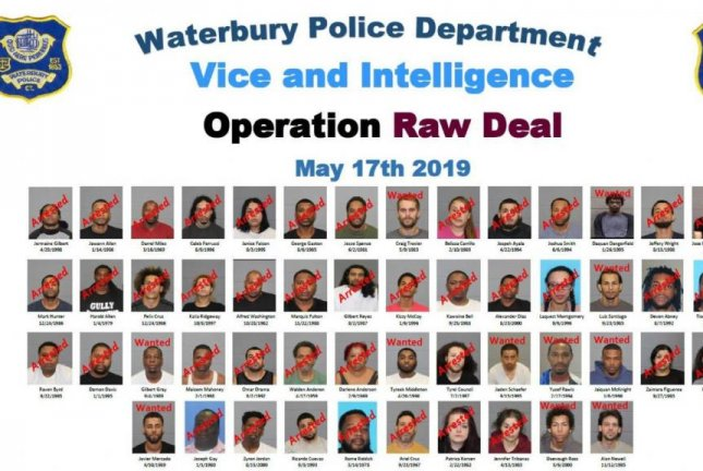 Connecticut police arrest 52 drug suspects in massive sting