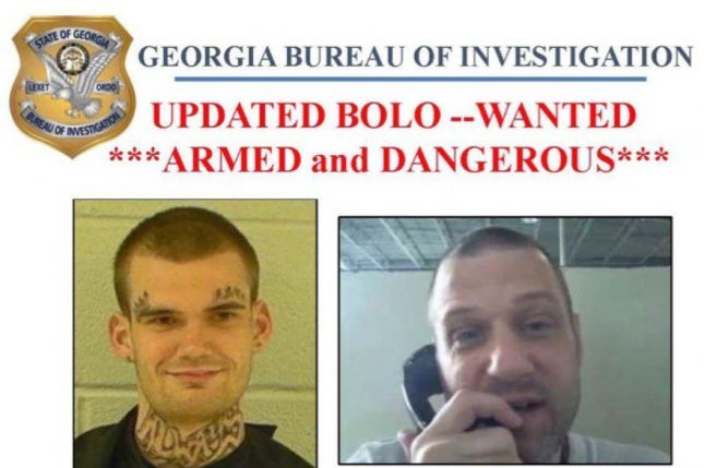 Escaped prison inmates Ricky Dubose (L) and Donnie Russell Rowe were re-captured in Tennessee Thursday evening, authorities said. The pair had been wanted since Tuesday. Image courtesy Georgia Bureau of Investigation