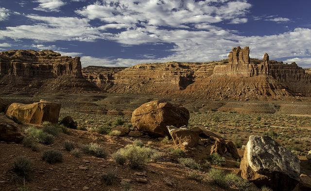 President Barack Obama moved to protect more than 1.65 million acres of land on Wednesday, creating the Bears Ears National Monument in Utah and Gold Butte National Monument in Nevada. Bears Ears, where Valley of the Gods, pictured, is located, will be the first federally protected land to include the input and guidance of Native American tribes, several of which have historic links to the property. Photo by Bureau of Land Management/Flickr.com