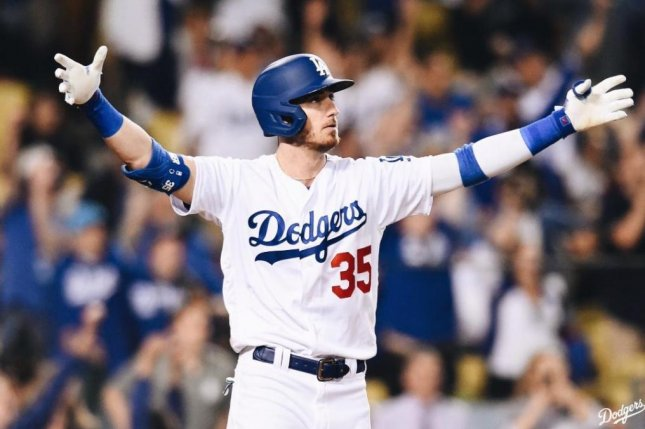 Los Angeles Dodgers outfielder Cody Bellinger has 29 home runs this season. Photo by Dodgers/Twitter