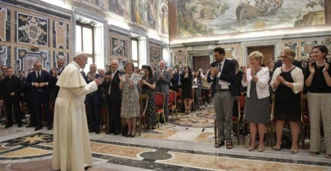 In a speech to the Forum of Family Associations, Pope Francis on Saturday said those having abortions because a fetus has disabilities or malformations have a Nazi mindset. Photo courtesy/Vatican