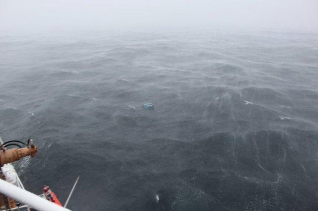 Debris believed to be from the Emmy Rose found floating in the Atlantic Ocean on Monday. Photo courtesy of U.S. Coast Guard