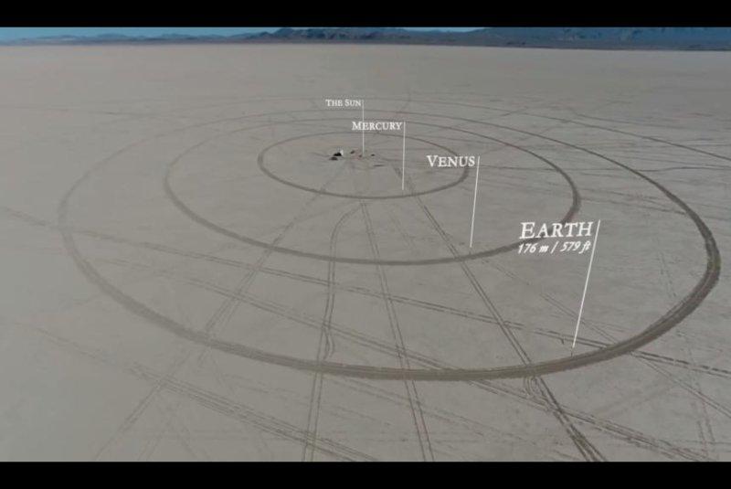 Watch: Scale model of solar system built in desert - UPI.com