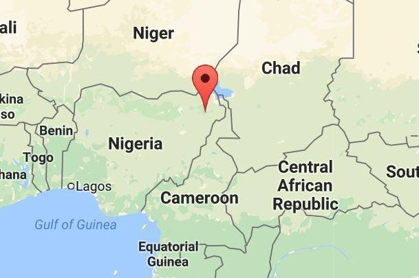 Nine people riding a commercial minibus were killed in an explosion Tuesday morning in Maiduguri, Nigeria. Screenshot/Google Maps
