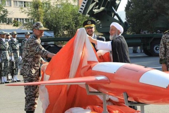 Iran unveiled its new Kian unmanned aerial drone in a ceremony in Tehran on Sunday. Photo courtesy of Islamic Republic News Agency
