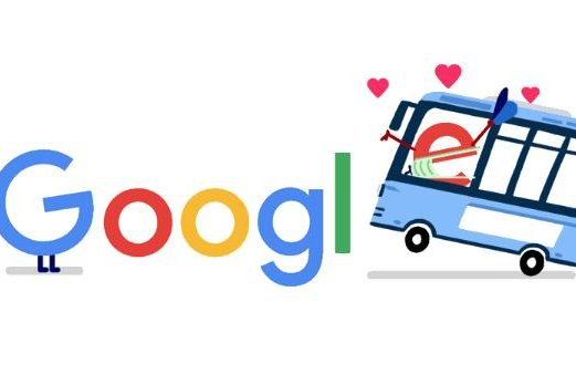 Google is recognizing public transportation workers with a new Doodle. Image courtesy of Google