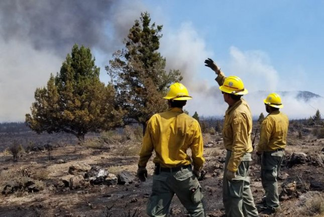 California's Caldwell Fire merged with the Gillem Fire, burning a total of 79,316 acres, making it the largest fire in the state since 2018. Photo courtesy Modoc National Forest/Facebook