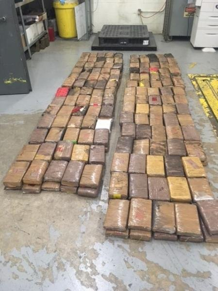 U.S. Customs and Border Protection agents seized about $5.6 million of cocaine after the inspection of a tractor trailer on the World Trade International Bridge that connects Laredo, Texas, and Nuevo Laredo, Mexico on January 30, the agency said Thursday. Photo courtesy of U.S. Customs and Border Protection