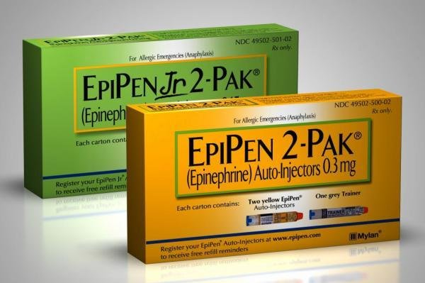 Mylan NV announced Friday that more than a dozen lots of its EpiPen and EpiPen Jr. 2-packs shipped in the United States are now being covered by a voluntary recall -- following two reported device failures the company said was due to a supplier defect. Photo courtesy Mylan
