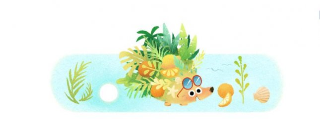 Google is marking the start of the summer solstice in the Northern Hemisphere with a new Doodle. Image courtesy of Google