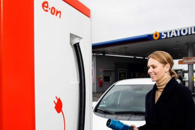 A German utility company said the network for charging stations in Denmark reached a milestone with 1 million charges. Photo courtesy of E.ON