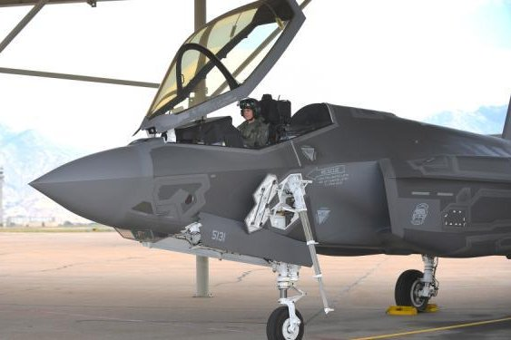 Col. Gina Torch Sabric, commander of the 419th Fighter Wing, onboard an F-35A on August 27, 2018, at Hill Air Force Base in Utah. Col. Sabric is the Air Force Reserve's first female F-35 pilot. Photo by Todd Cromar/U.S. Air Force