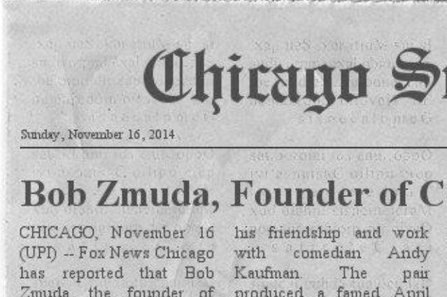 Hoax UPI article claiming Bob Zmuda's death. (Tony Clifton Facebook)