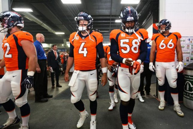 a5352fbcf5eb QB Case Keenum overcomes interceptions in Denver Broncos debut - UPI.com