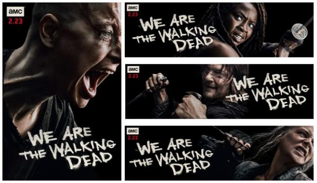 Samantha Morton, Melissa McBride, Norman Reedus and Danai Guirira appeared in The Walking Dead key art ahead of the show's Season 10 return. Photo courtesy of AMC