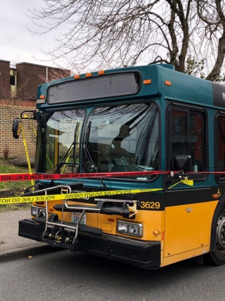 A suspect in Seattle critically shot a bus driver, who then turned his bus around, protecting the 12 passengers onboard. Photo courtesy of Seattle Police Department.