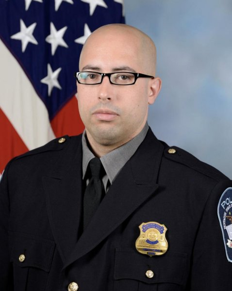 Pentagon Police officer George Gonzalez died Tuesday after being attacked at the Pentagon's bus depot. File Photo courtesy of the Pentagon Force Protection Agency