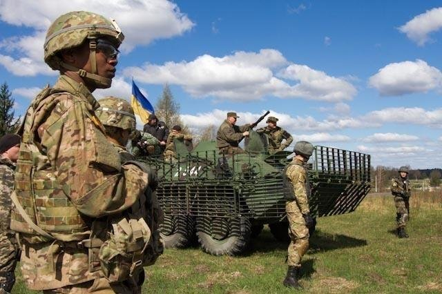 Soldiers from the U.S. Army's 173rd Airborne Brigade Combat Team trained several battalions of Ukrainian national guardsmen at the request of the Ukrainian government. U.S. Army photo by Sgt. Alexander Skripnichuk