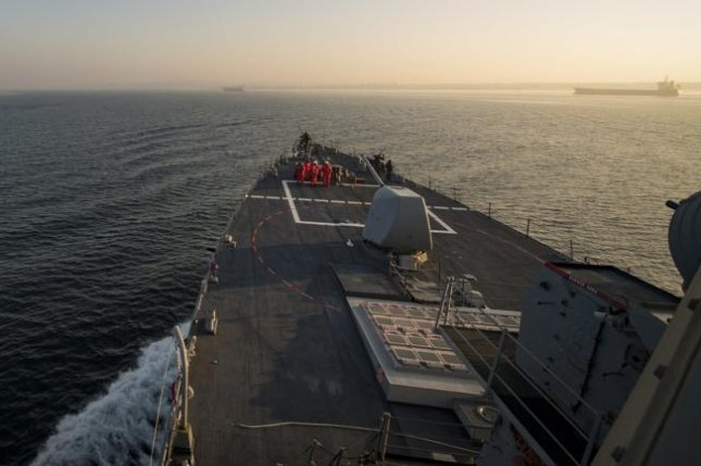 The USS Donald Cook transits the Dardanelles Strait on Tuesday before entering the Black Sea. Photo by Mass Communication Spec. 2nd Class Ford Williams/U.S. Navy