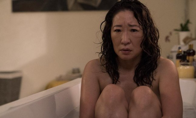 Sandra Oh appears as her character Eve in an image from Season 2 of Killing Eve. Photo courtesy of BBC America