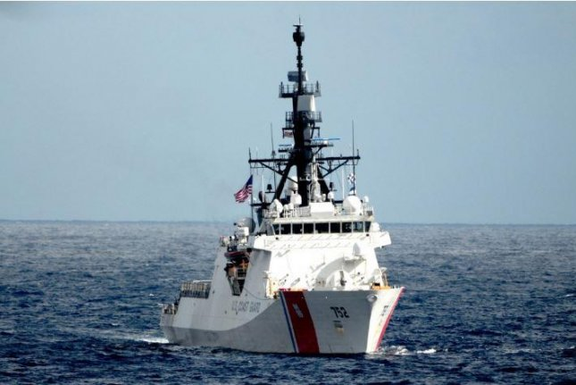The U.S. Coast Guard Cutter Stratton took part in a multi-nation exercise in the Coral sea in July 2019. The USCG commandant, Adm. Karl Schultz, said the Coast Guard will expand its presence in the Western Pacific Ocean. Photo by MCS1 Timothy M. Black/USCG/UPI