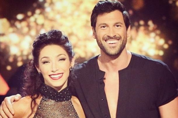 Meryl Davis and Maks Chmerkovskiy reunited for the 'Dancing with the Stars' 10th anniversary special. Instagram/Meryl Davis