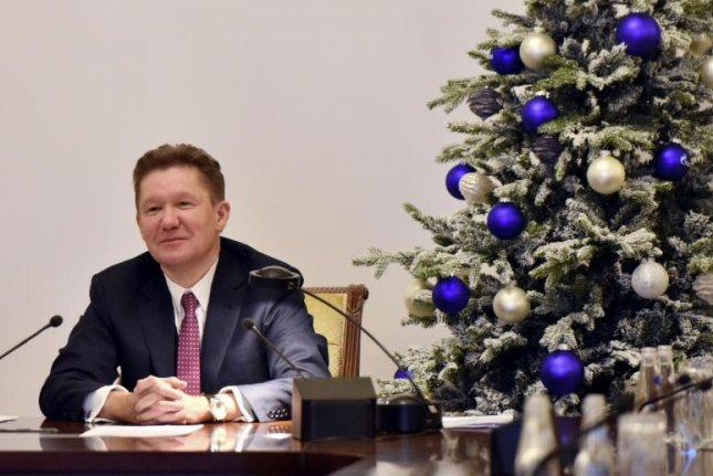Gazprom Chairman Alexei Miller delivers New Year address, touting progress on a natural gas pipeline for China. Photo courtesy of Gazprom.