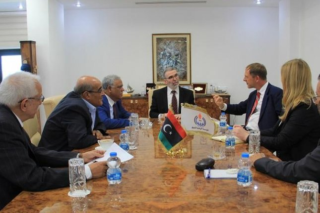 Delegates from Libya's National Oil Corp. met with German diplomats to review security and investor challenges in the country. Photo courtesy of the National Oil Corp.