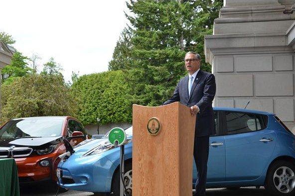 Washington Gov. Jay Inslee wants the state to be as good as low-carbon Norway when it comes to the deployment of electric vehicles. Photo courtesy of the office of Gov. Inslee
