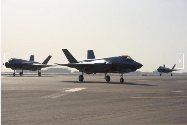 F-35A fighter planes of the U.S. Air Force Fighter Wing arrived at Al Dhafra Air Base, United Arab Emirates, in April. Photo by Staff Sgt. Chris Thornbury/U.S. Air Force