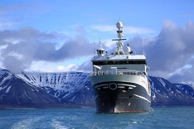 The research ship Helmer Hanssen sails along the western coast of the Svalbard archipelago in Norway's high Arctic, where a study on methane hydrates reached some surprising conclusions. Photo by Randall Hyman/Arctic Deeply