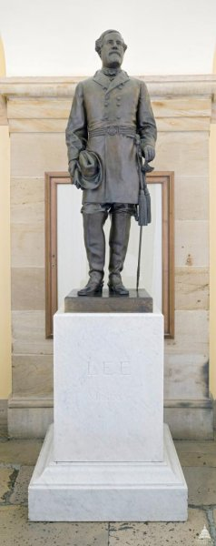 The statue of Confederate Gen. Robert E. Lee was donated by the state of Virginia to the National Statuary Hall Collection in 1909. Photo courtesy of Architect of the Capitol/Flickr