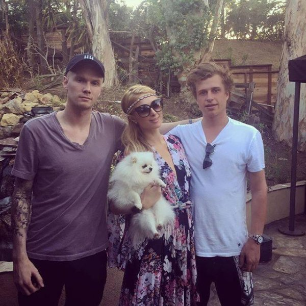 Barron (left to right), Paris and Conrad Hilton are seen in this photo posted to Paris' Facebook on April 23, 2016. A Los Angeles judge has remanded Conrad to a psychiatric hospital following a recent arrest. Photo courtesy Paris Hilton/Facebook