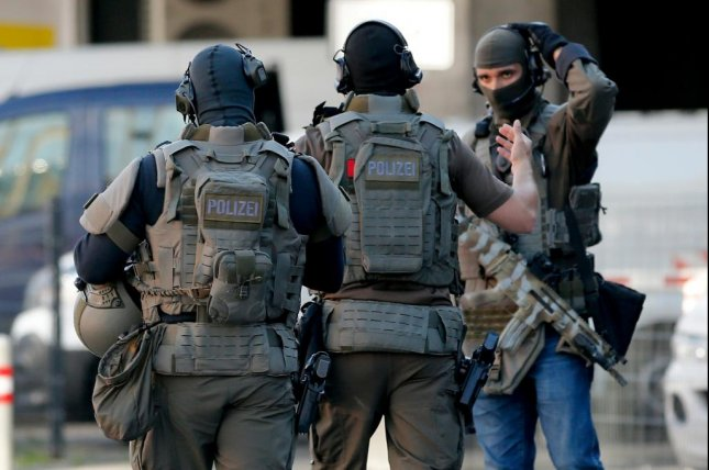Special police respond to a hostage situation at the main train station in Cologne, Germany on Monday. Photo by  EPA-EFE