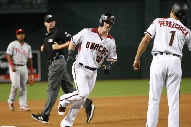 Chris Herrmann had a game-winning hit, a day after he homered in the first inning of his first career start in the leadoff spot in a 6-1 victory over Philadelphia on Monday. Photo courtesy of Arizona Diamondbacks/Twitter