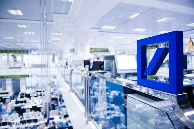 Deutsche Bank offered to buy back $5.4 billion in debt securities Friday, an offer that caused its stock price to rise. Photo courtesy of Deutsche Bank