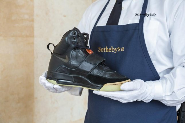 Kanye West's Air Yeezy 1 Prototype shoes were sold through auction company Sotheby's for a record-breaking $1.8 million. Image courtesy of Sotheby's.