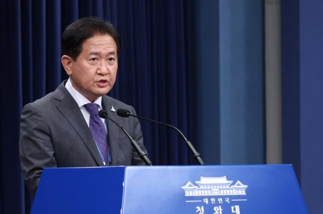 Suh Choo-suk, deputy director of the National Security Council, condemns North Korea for shooting a South Korean official, at the presidential office in Seoul on Thursday. Photo by Yonhap