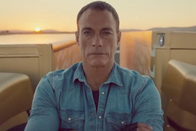 Jean-Claude Van Damme, 53, performs epic splic between two moving trucks in viral Volvo Trucks ad. (Screenshot via Volvo Trucks)