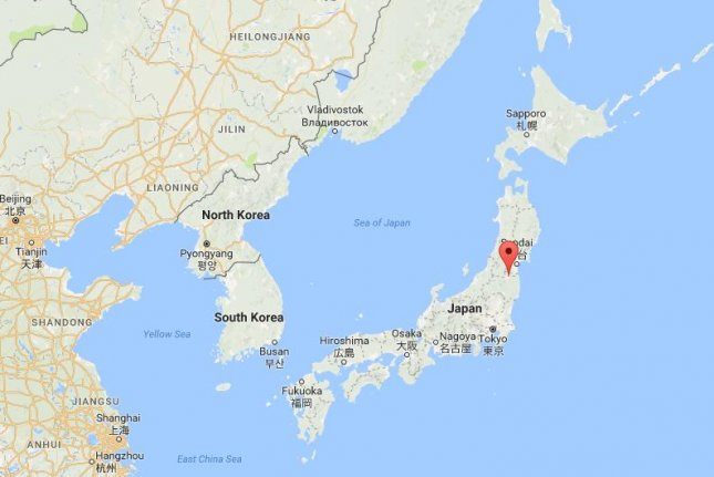 The second earthquake in three days to hit off the coast of Fukushima province in Japan, this one reported as a 6.1 magnitude by the Japan Meteorological Agency, hit around 6:23 a.m. Thursday morning. It was felt in Tokyo, like the previous one, however no tsunami warning was issued and there have been no reports of injuries or damage to property. Photo by Google Maps